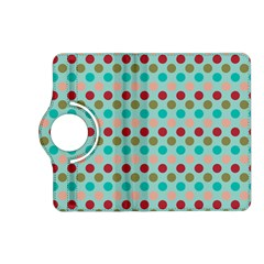 Large Colored Polka Dots Line Circle Kindle Fire Hd (2013) Flip 360 Case by Mariart