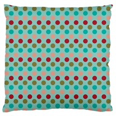 Large Colored Polka Dots Line Circle Large Flano Cushion Case (one Side) by Mariart