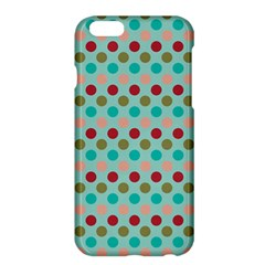 Large Colored Polka Dots Line Circle Apple Iphone 6 Plus/6s Plus Hardshell Case