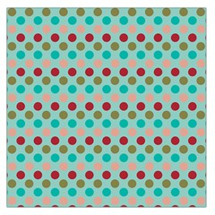 Large Colored Polka Dots Line Circle Large Satin Scarf (square) by Mariart