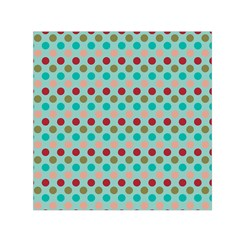 Large Colored Polka Dots Line Circle Small Satin Scarf (square) by Mariart