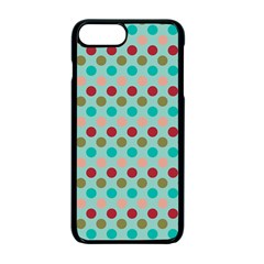 Large Colored Polka Dots Line Circle Apple Iphone 7 Plus Seamless Case (black)