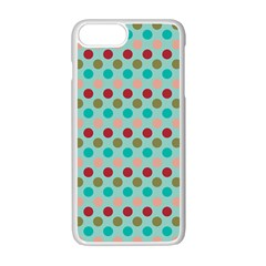 Large Colored Polka Dots Line Circle Apple Iphone 7 Plus White Seamless Case