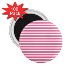 Horizontal Stripes Light Pink 2 25  Magnets (100 Pack)  by Mariart