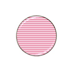 Horizontal Stripes Light Pink Hat Clip Ball Marker (10 Pack) by Mariart