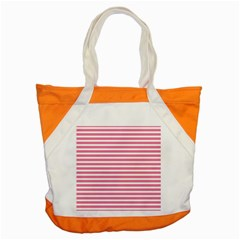 Horizontal Stripes Light Pink Accent Tote Bag