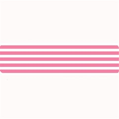 Horizontal Stripes Light Pink Large Bar Mats by Mariart