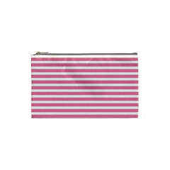 Horizontal Stripes Light Pink Cosmetic Bag (small)  by Mariart