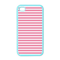 Horizontal Stripes Light Pink Apple Iphone 4 Case (color) by Mariart