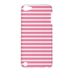 Horizontal Stripes Light Pink Apple Ipod Touch 5 Hardshell Case by Mariart