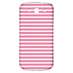 Horizontal Stripes Light Pink Samsung Galaxy S3 S Iii Classic Hardshell Back Case