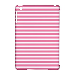Horizontal Stripes Light Pink Apple Ipad Mini Hardshell Case (compatible With Smart Cover)