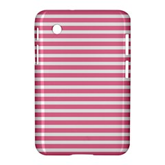 Horizontal Stripes Light Pink Samsung Galaxy Tab 2 (7 ) P3100 Hardshell Case  by Mariart