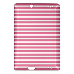 Horizontal Stripes Light Pink Amazon Kindle Fire Hd (2013) Hardshell Case by Mariart