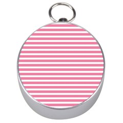 Horizontal Stripes Light Pink Silver Compasses by Mariart