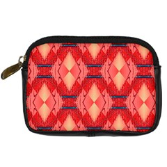 Orange Fractal Background Digital Camera Cases by Simbadda