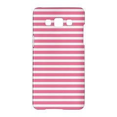 Horizontal Stripes Light Pink Samsung Galaxy A5 Hardshell Case  by Mariart