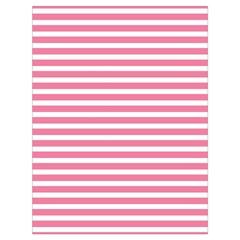 Horizontal Stripes Light Pink Drawstring Bag (large) by Mariart