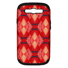 Orange Fractal Background Samsung Galaxy S Iii Hardshell Case (pc+silicone) by Simbadda