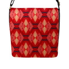 Orange Fractal Background Flap Messenger Bag (l)  by Simbadda