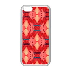 Orange Fractal Background Apple Iphone 5c Seamless Case (white) by Simbadda