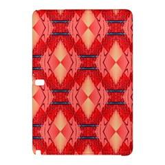 Orange Fractal Background Samsung Galaxy Tab Pro 12 2 Hardshell Case by Simbadda