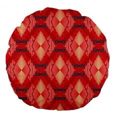 Orange Fractal Background Large 18  Premium Flano Round Cushions by Simbadda