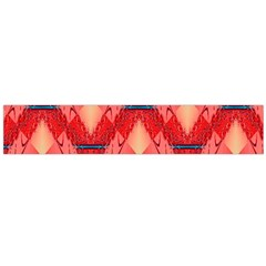 Orange Fractal Background Flano Scarf (large)