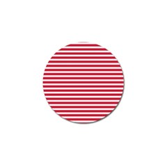 Horizontal Stripes Red Golf Ball Marker (10 Pack) by Mariart