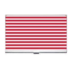 Horizontal Stripes Red Business Card Holders by Mariart