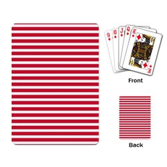 Horizontal Stripes Red Playing Card by Mariart