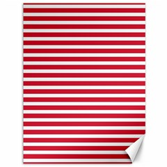 Horizontal Stripes Red Canvas 36  X 48   by Mariart