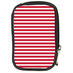 Horizontal Stripes Red Compact Camera Cases by Mariart