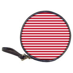 Horizontal Stripes Red Classic 20 Cd Wallets by Mariart