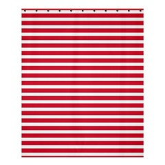 Horizontal Stripes Red Shower Curtain 60  X 72  (medium)  by Mariart