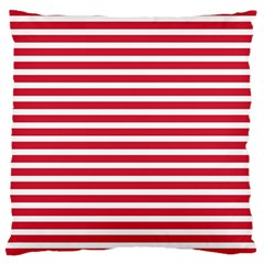 Horizontal Stripes Red Large Cushion Case (two Sides) by Mariart