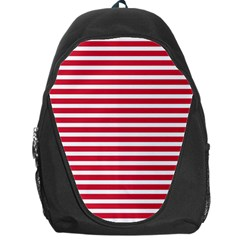 Horizontal Stripes Red Backpack Bag by Mariart