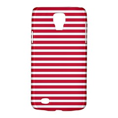 Horizontal Stripes Red Galaxy S4 Active by Mariart