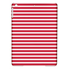 Horizontal Stripes Red Ipad Air Hardshell Cases by Mariart