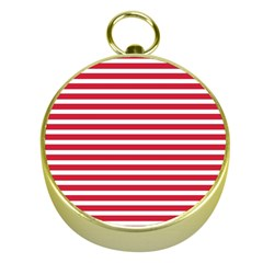Horizontal Stripes Red Gold Compasses by Mariart