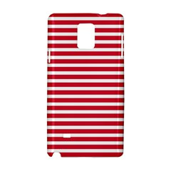 Horizontal Stripes Red Samsung Galaxy Note 4 Hardshell Case by Mariart