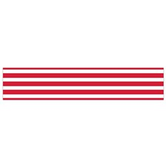 Horizontal Stripes Red Flano Scarf (small)