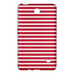 Horizontal Stripes Red Samsung Galaxy Tab 4 (8 ) Hardshell Case  by Mariart