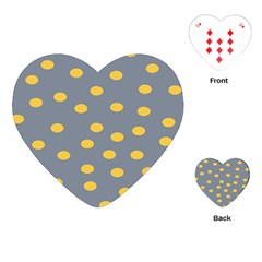 Limpet Polka Dot Yellow Grey Playing Cards (heart)  by Mariart