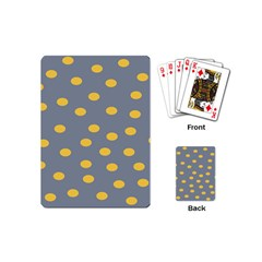 Limpet Polka Dot Yellow Grey Playing Cards (mini)  by Mariart