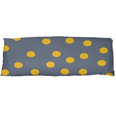 Limpet Polka Dot Yellow Grey Body Pillow Case Dakimakura (two Sides)