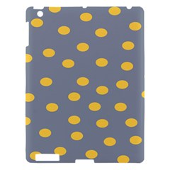 Limpet Polka Dot Yellow Grey Apple Ipad 3/4 Hardshell Case by Mariart