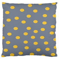 Limpet Polka Dot Yellow Grey Large Cushion Case (two Sides) by Mariart