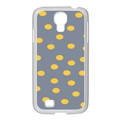 Limpet Polka Dot Yellow Grey Samsung Galaxy S4 I9500/ I9505 Case (white)