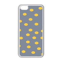 Limpet Polka Dot Yellow Grey Apple Iphone 5c Seamless Case (white) by Mariart
